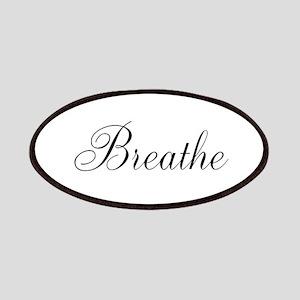Breathe Black Script Patches
