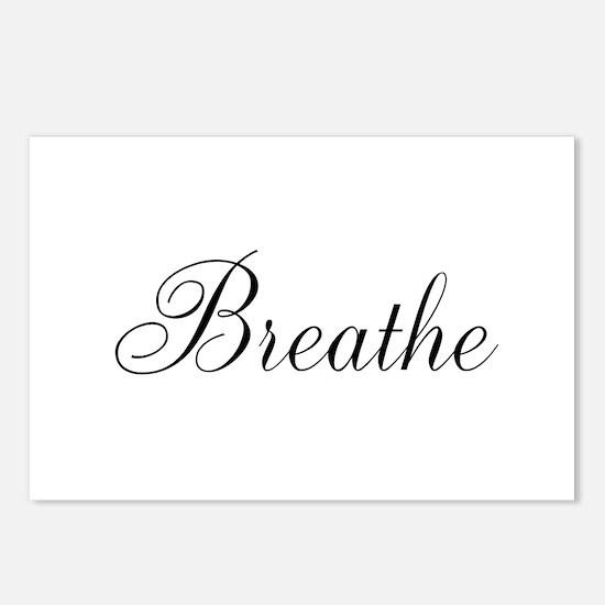 Breathe Black Script Postcards (Package of 8)