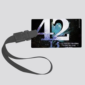 Hitchhikers Guide 42-13 Large Luggage Tag