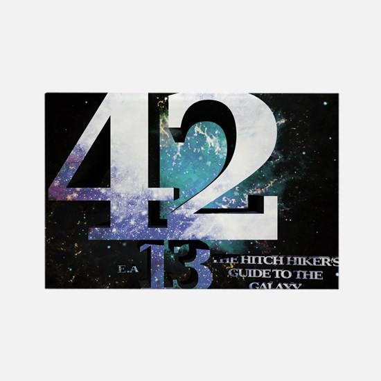 Hitchhikers Guide 42-13 Rectangle Magnet