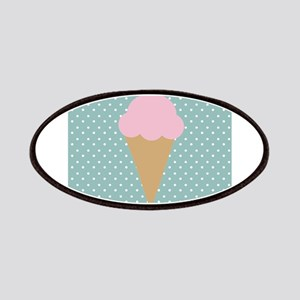 Strawberry Ice Cream on Turquoise Patches
