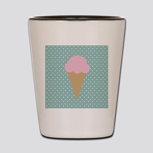 Strawberry Ice Cream on Turquoise Shot Glass