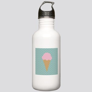 Strawberry Ice Cream on Turquoise Water Bottle