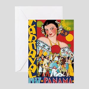 1937 Panama Carnival Greeting Card