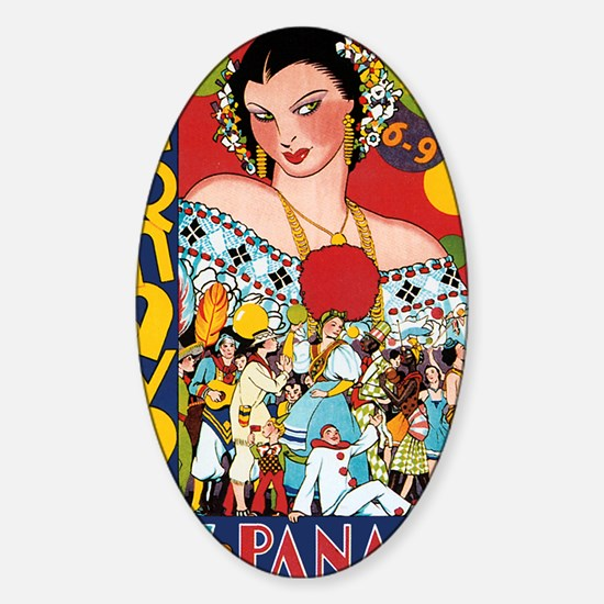 1937 Panama Carnival Sticker (Oval)