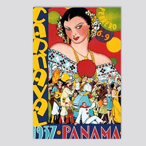 1937 Panama Carnival Postcards (Package of 8)