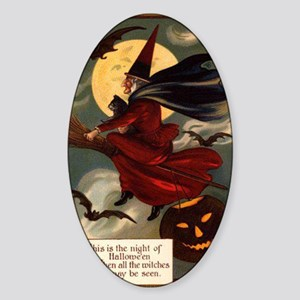 witches may be seen Sticker (Oval)