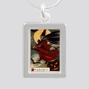 witches may be seen Silver Portrait Necklace