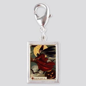witches may be seen Silver Portrait Charm