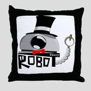 Fancy Robot Throw Pillow
