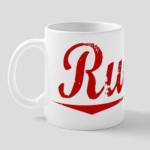 Rueda, Vintage Red Mug