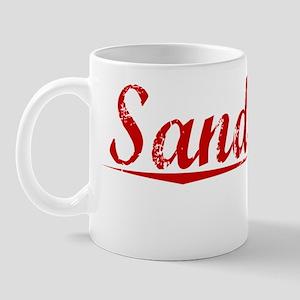 Sandusky, Vintage Red Mug