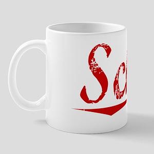 Schuh, Vintage Red Mug