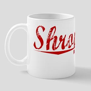 Shropshire, Vintage Red Mug