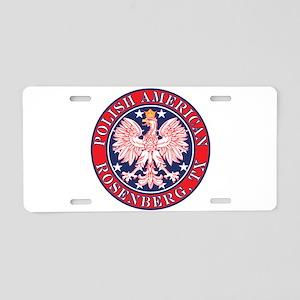 Rosenberg Texas Polish Aluminum License Plate