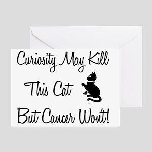 CURIOSITY CAT (BLK) Greeting Card