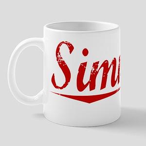 Simmers, Vintage Red Mug