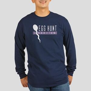Egg Hunt Sperm Long Sleeve Dark T-Shirt
