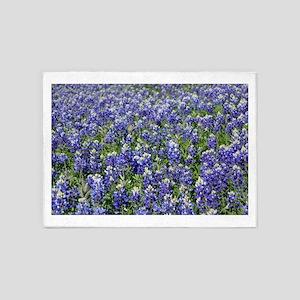 Field Of Texas Bluebonnets 5'x7'Area Rug