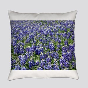Field Of Texas Bluebonnets Everyday Pillow