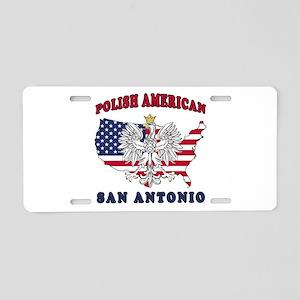 San Antonio Texas Polish Aluminum License Plate