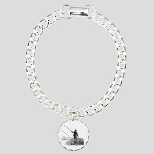 Fly Fishing Charm Bracelet, One Charm