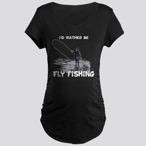 Fly Fishing Maternity Dark T-Shirt