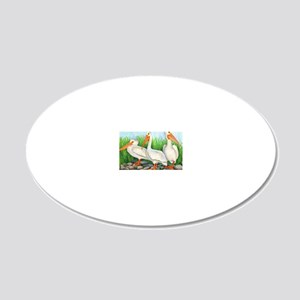 The Three Amigos 20x12 Oval Wall Decal