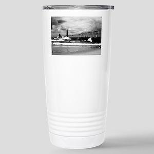 Lake Michigan Dark Stainless Steel Travel Mug