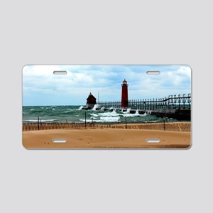 Lake Michigan Beach Aluminum License Plate
