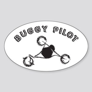 Buggy Pilot Oval Sticker