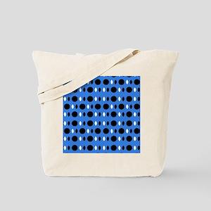 Cool Blue Black Perception Designer Tote Bag