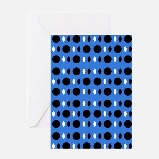 Cool Blue Black Perception Designer Greeting Card