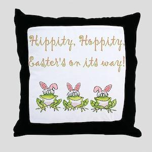 Hippity Frog Throw Pillow