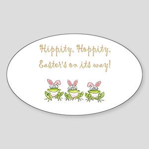 Hippity Frog Oval Sticker