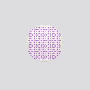 Violet Dots Shapes Designer Mini Button