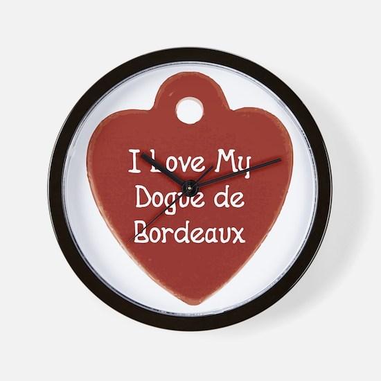 Love My Dogue Wall Clock