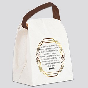 Jewelry Case Isaiah 61:10 Canvas Lunch Bag