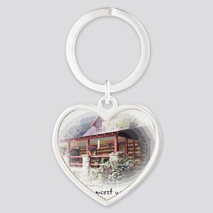 Home is the Nicest Word Heart Keychain