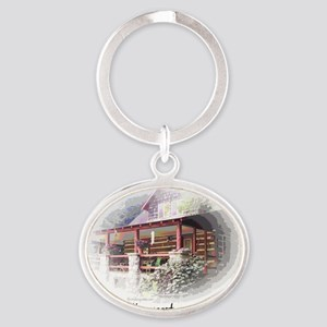 Home is the Nicest Word Oval Keychain