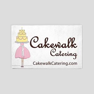 Cakewalk Logo Very Very Large 3'x5' Area Rug
