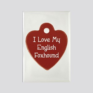 Love My Foxhound Rectangle Magnet