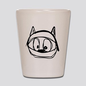 Felix the space jump cat in a helmet Shot Glass