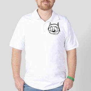 Felix the space jump cat in a helmet Golf Shirt