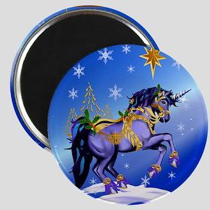 Calender Bright Christmas Unicorn Magnet