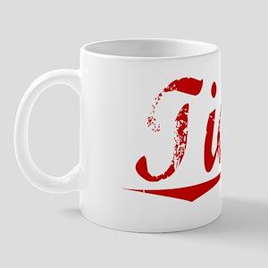 Tickle, Vintage Red Mug