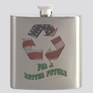 Recycle America Flask