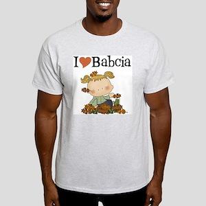 Autumn Girl I Love Babcia Light T-Shirt