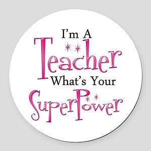 super teacher Round Car Magnet
