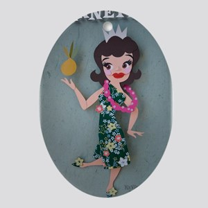 Pineapple Princess Annette Oval Ornament